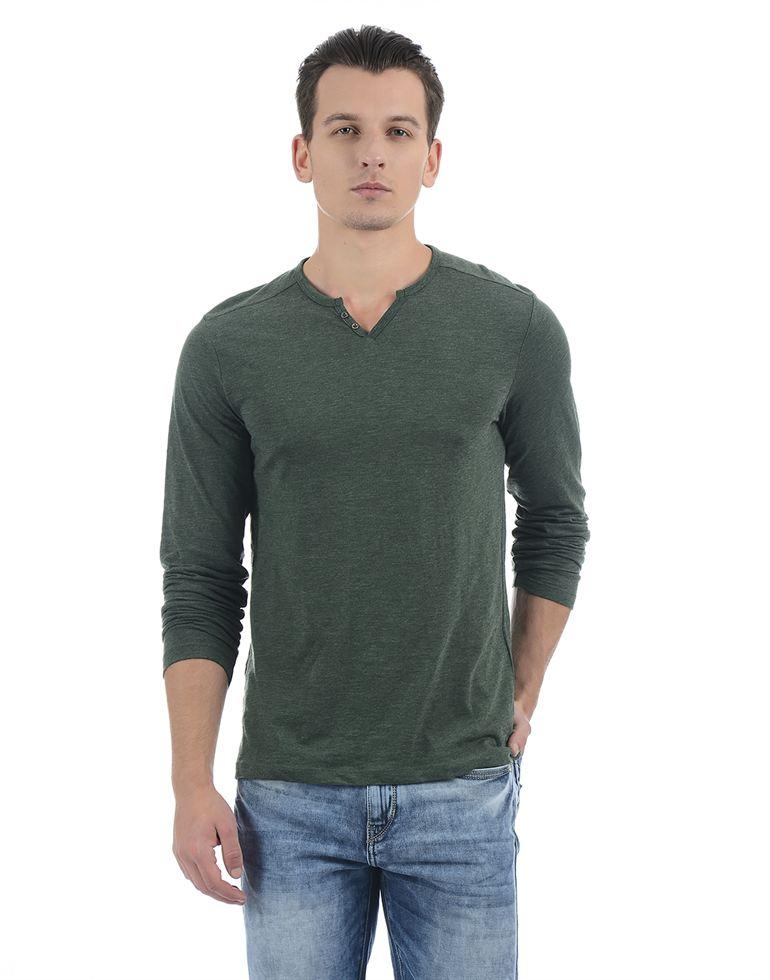 Celio Men Casual Wear Solid T-Shirt