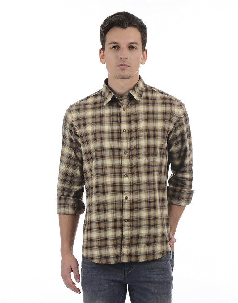 Indian Terrain Men Brown Shirt