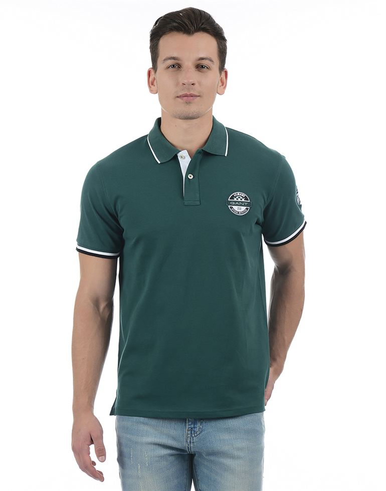 Gant Men Casual Wear Solid Polo T-Shirt