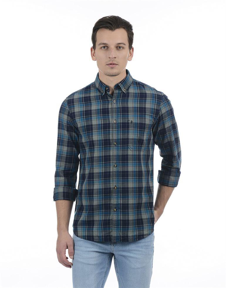 Izod Men Grey Shirt