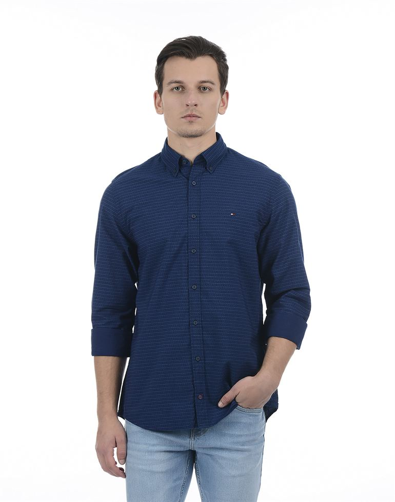 Tommy Hilfiger Casual Striped Men Shirt