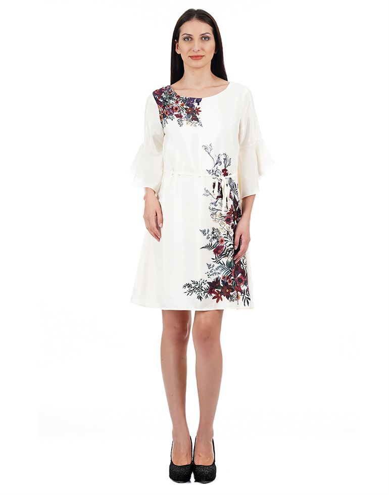 Elle Casual Printed Women Dress