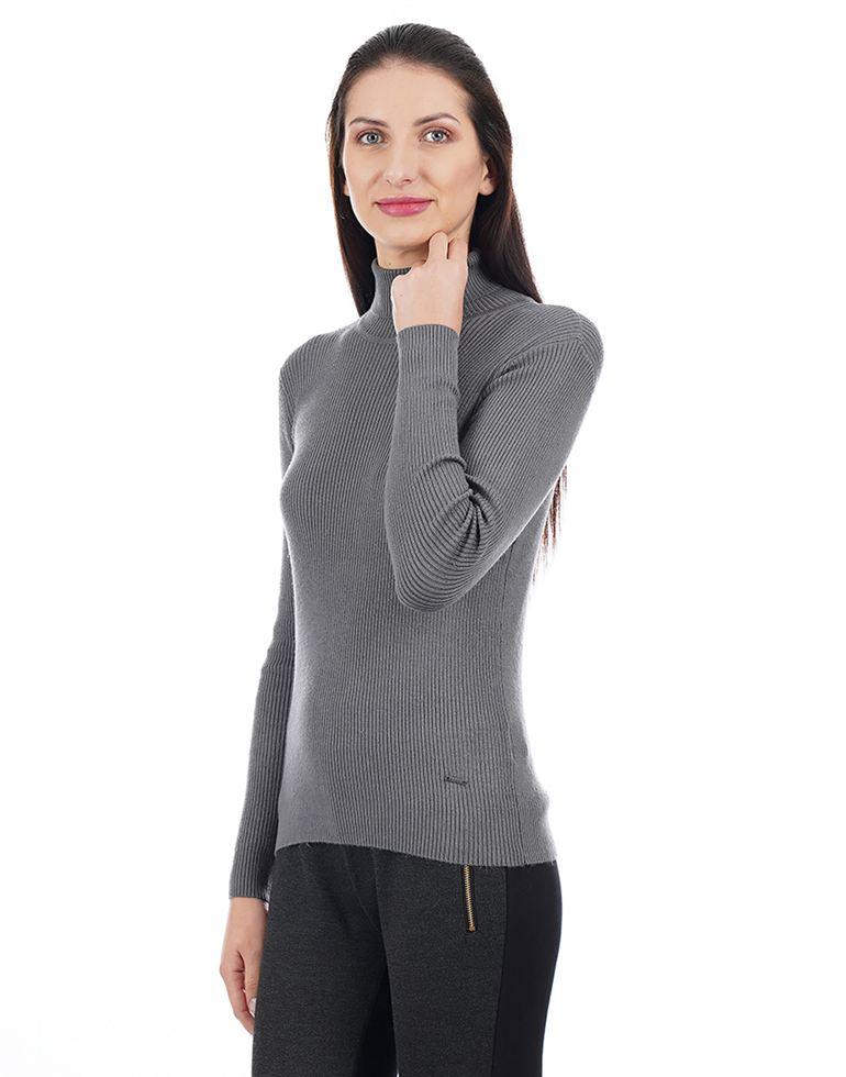Elle Women Grey Sweater
