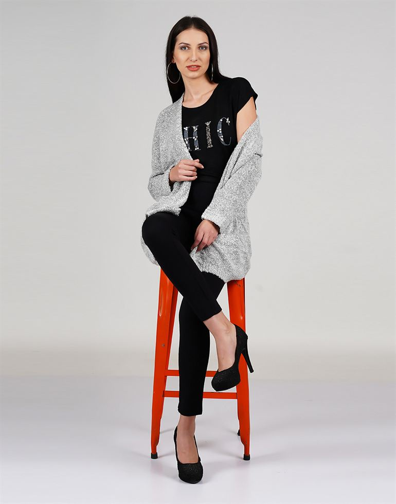 ELLE Casual Printed Women Shrug