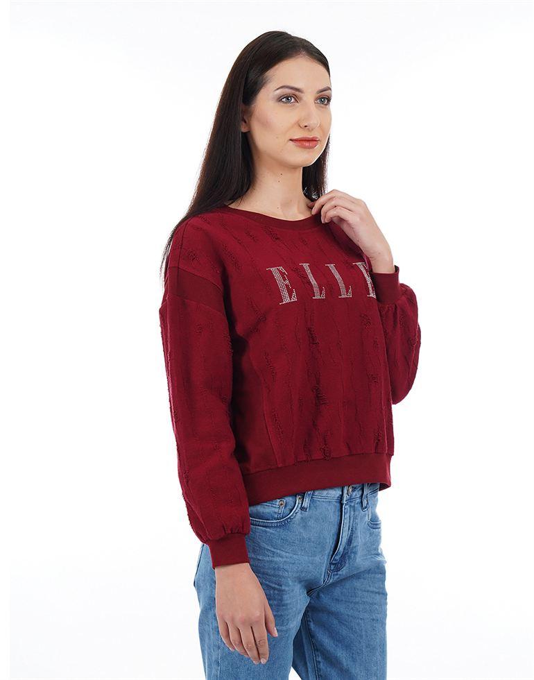 ELLE Casual Solid Women Sweatshirt