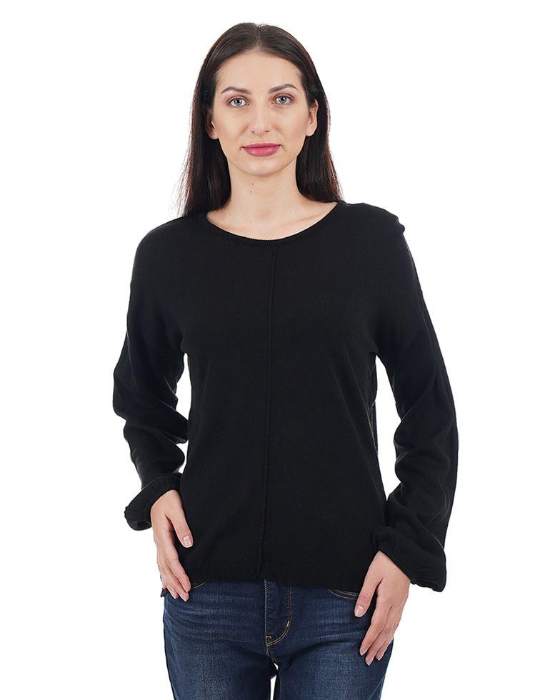 Elle Women Casual Wear Solid Sweater