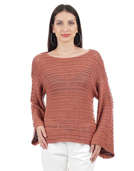 Elle Women Casual Wear Textured Sweater