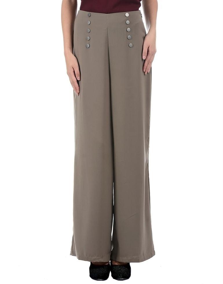 Kazo Women Casual Wear Solid Plazzo