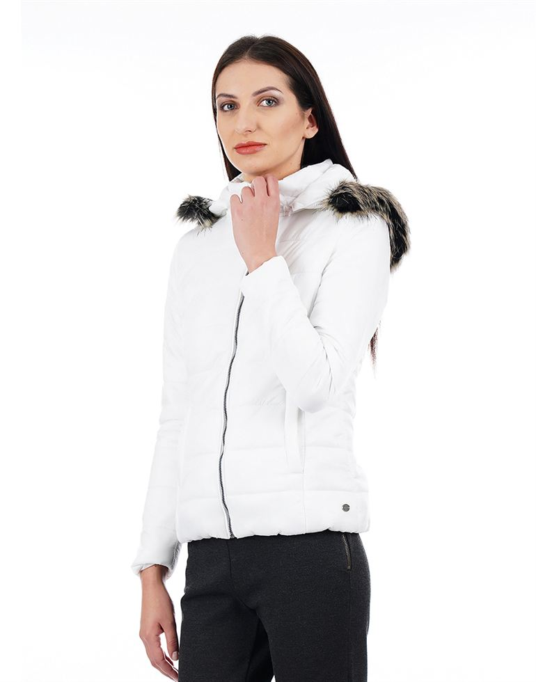 U.S. Polo Assn. Women White Jacket