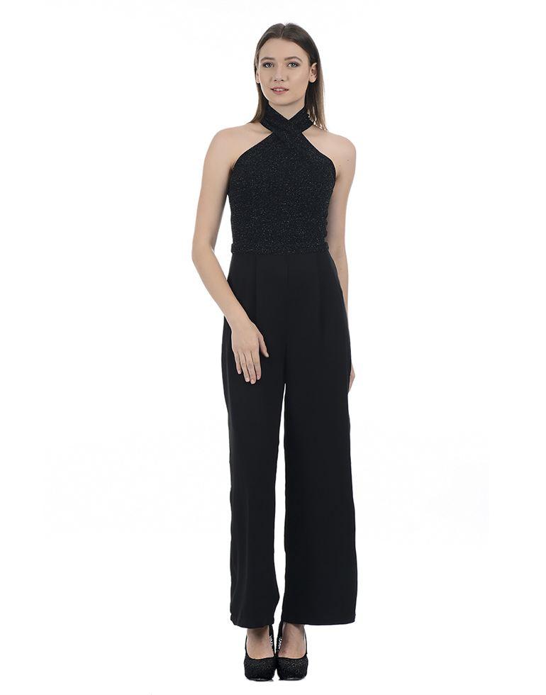 Kazo Women Casual Wear Applique Jump Suit