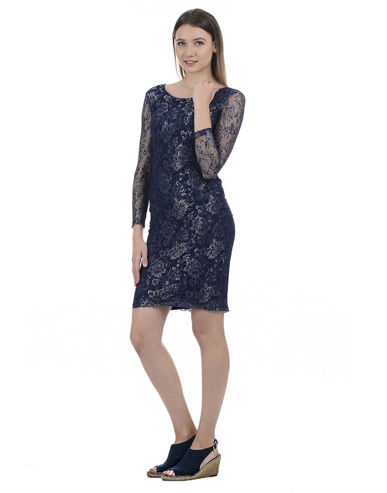 Kazo Casual Embroidered Women Dress