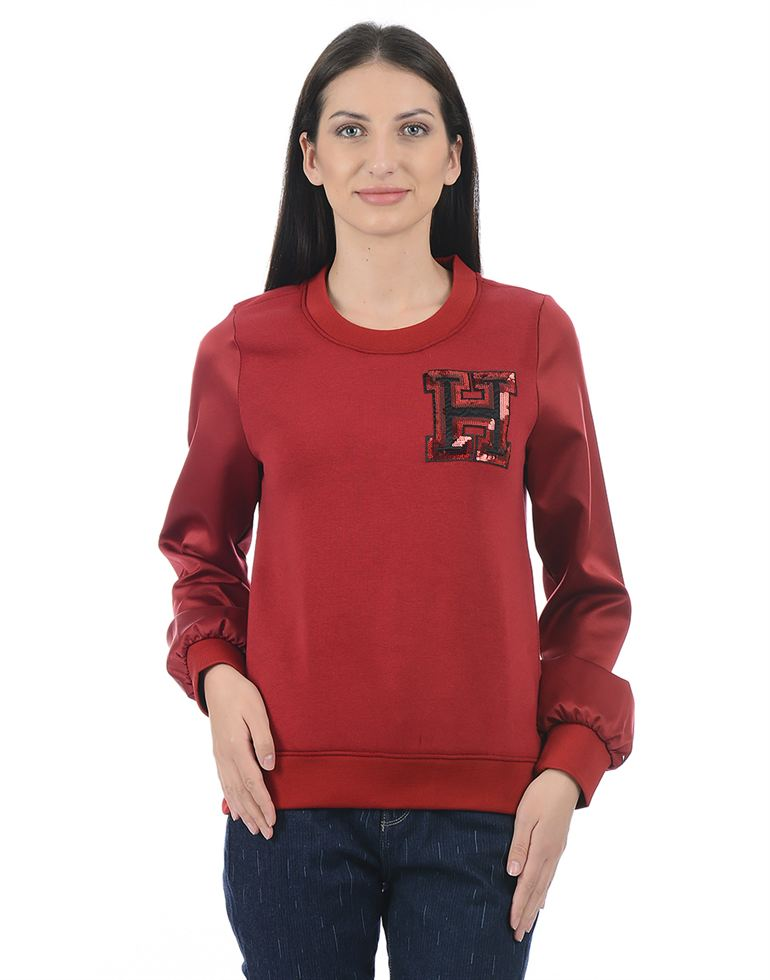 Tommy Hilfiger Casual Solid Women Sweatshirt
