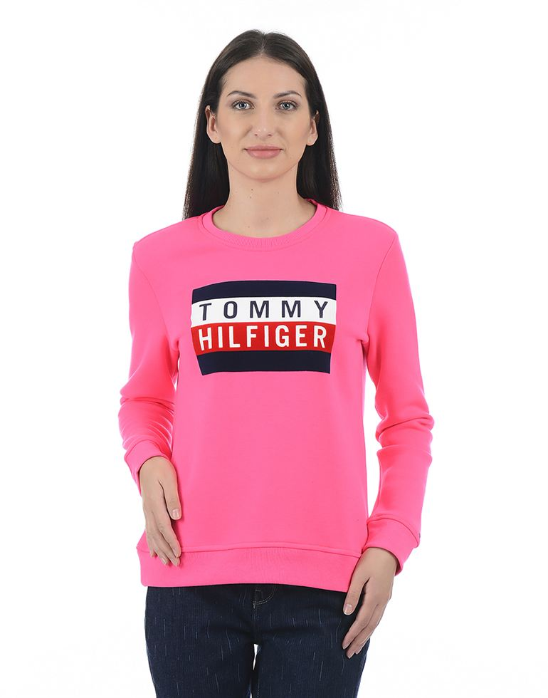 Tommy Hilfiger Casual Printed Women Sweatshirt