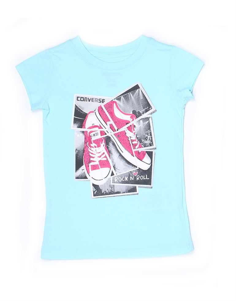 Converse Girls Casual Wear Graphic Print Top