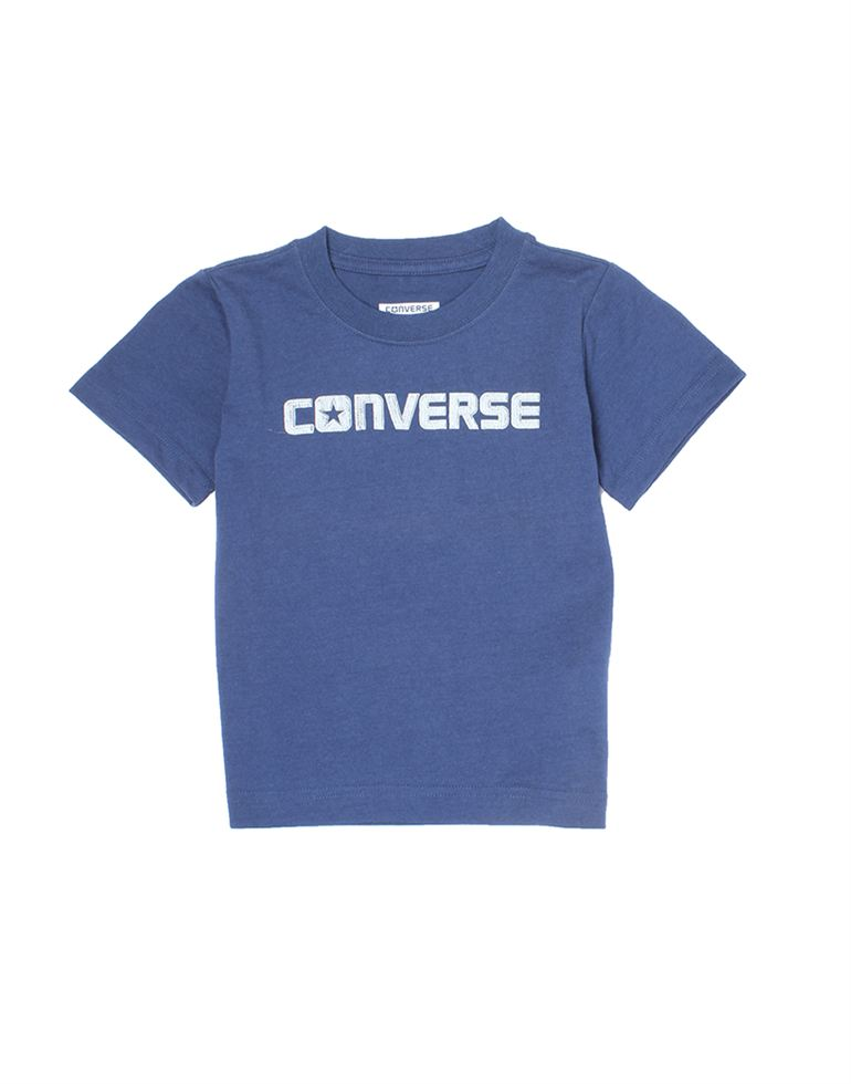 Converse Boys Casual Wear Solid T-Shirt
