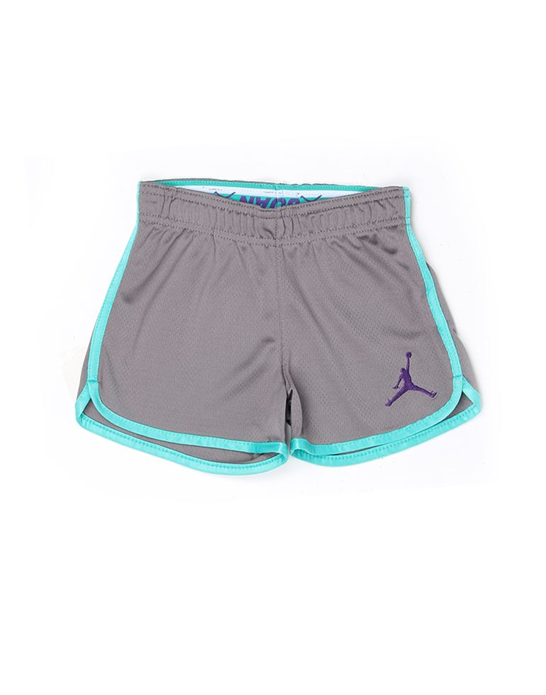 Jordan Girls Grey Solid Knit Short