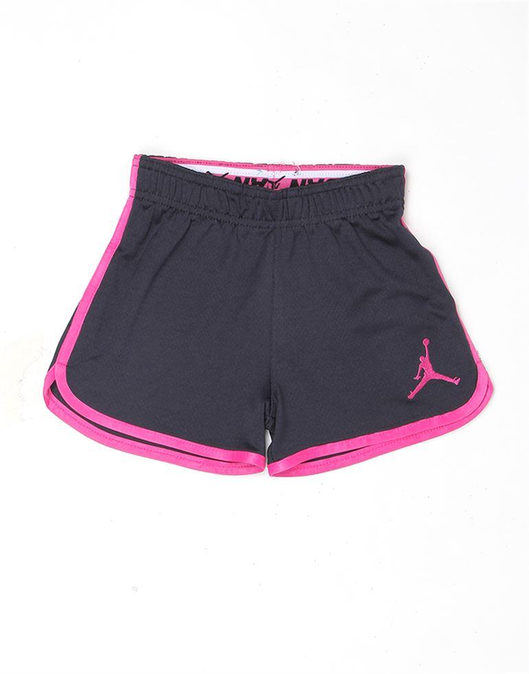 Jordan Girls Black Solid Knit Short