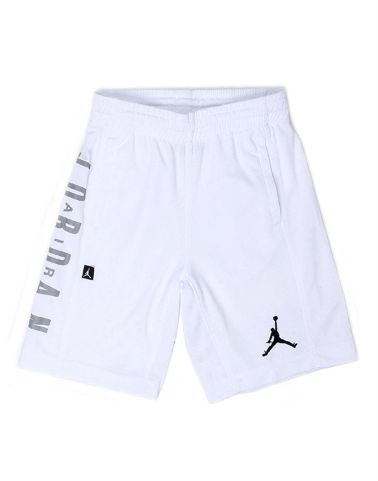 Jordan Boys White Solid Short