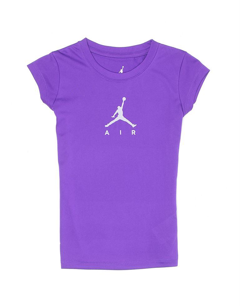 Jordan Girls Purple Solid Knit Top