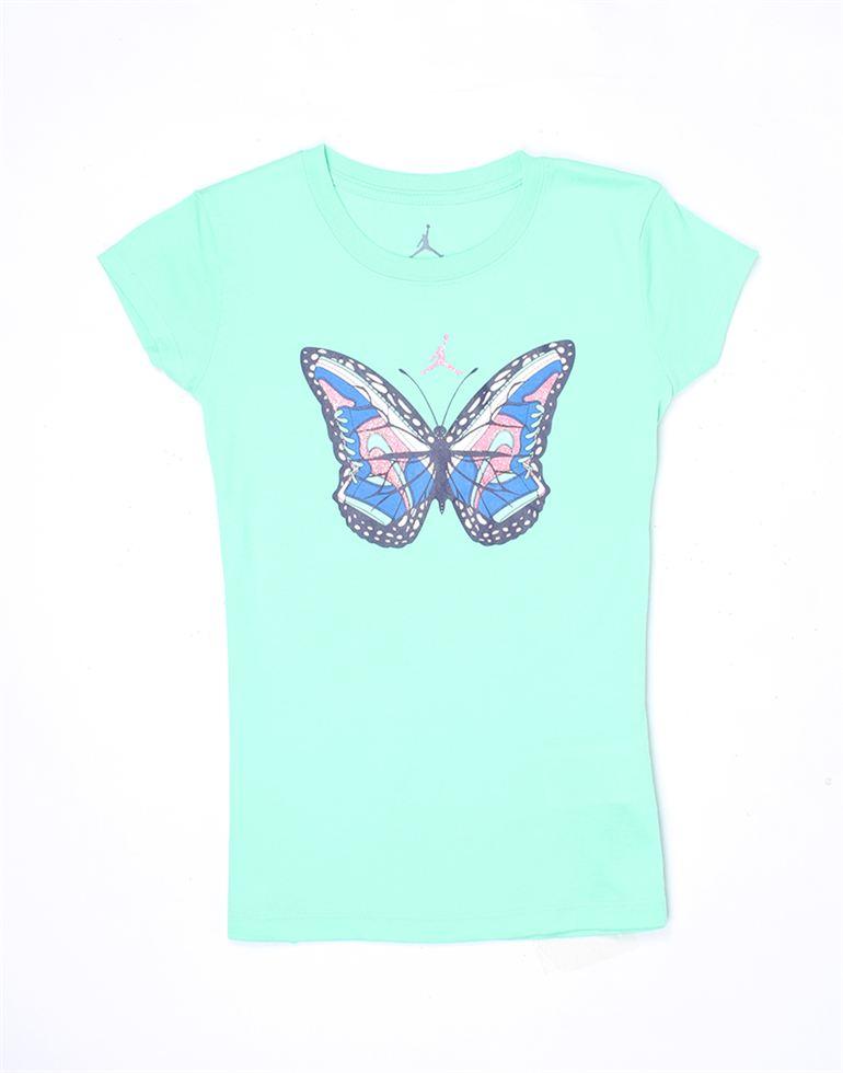 Jordan Girls Green Printed T-Shirt