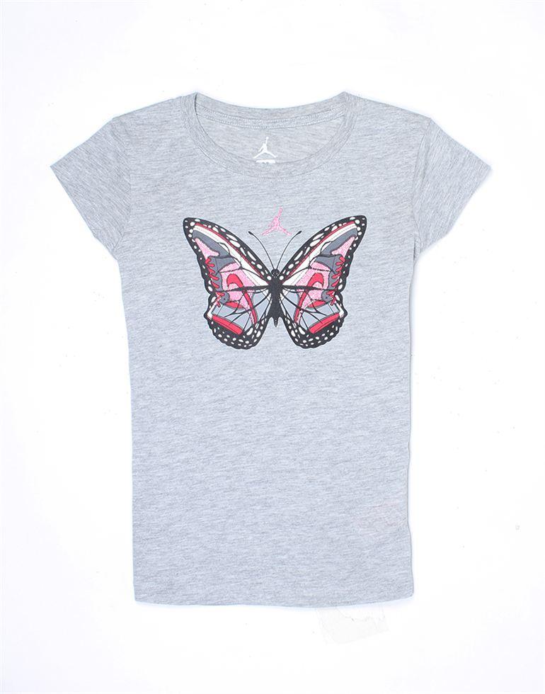 Jordan Girls Grey Printed T-Shirt