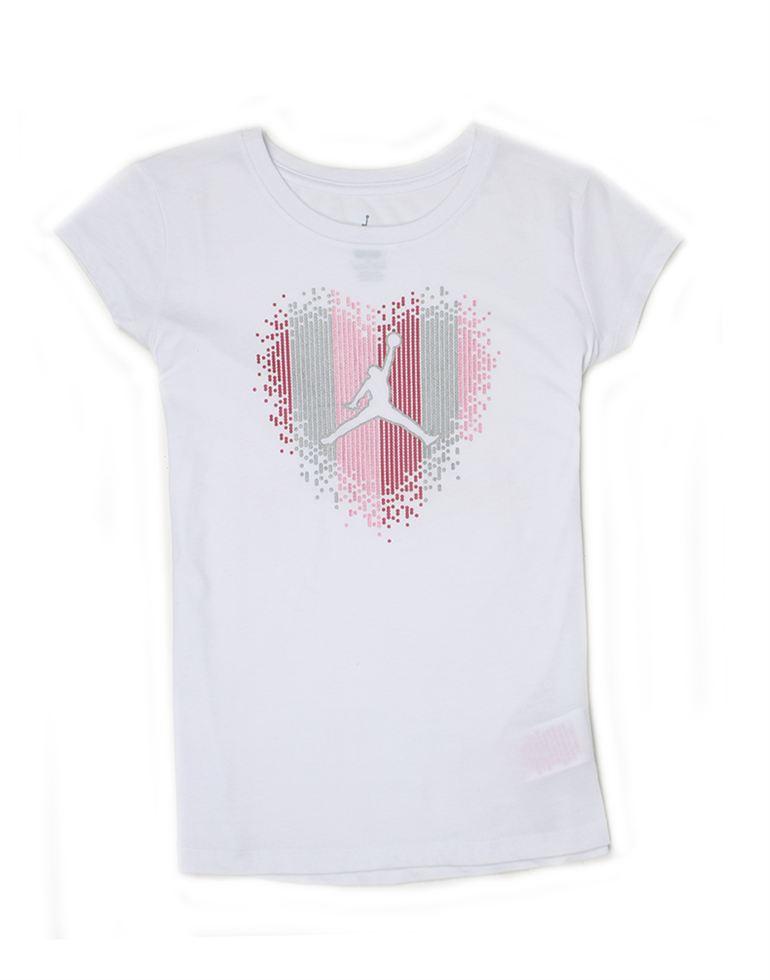 Jordan Girls White Printed T-Shirt