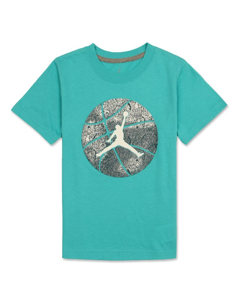 Jordan Boys Blue Printed T-Shirt