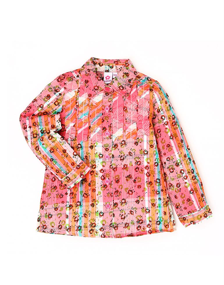 K.C.O 89 Baby Girls Casual Floral Print Full Sleeves Top