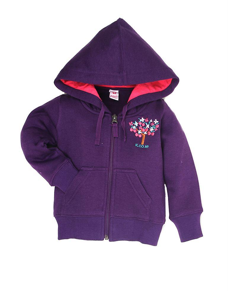 K.C.O 89 Casual Solid Girls Sweatshirt