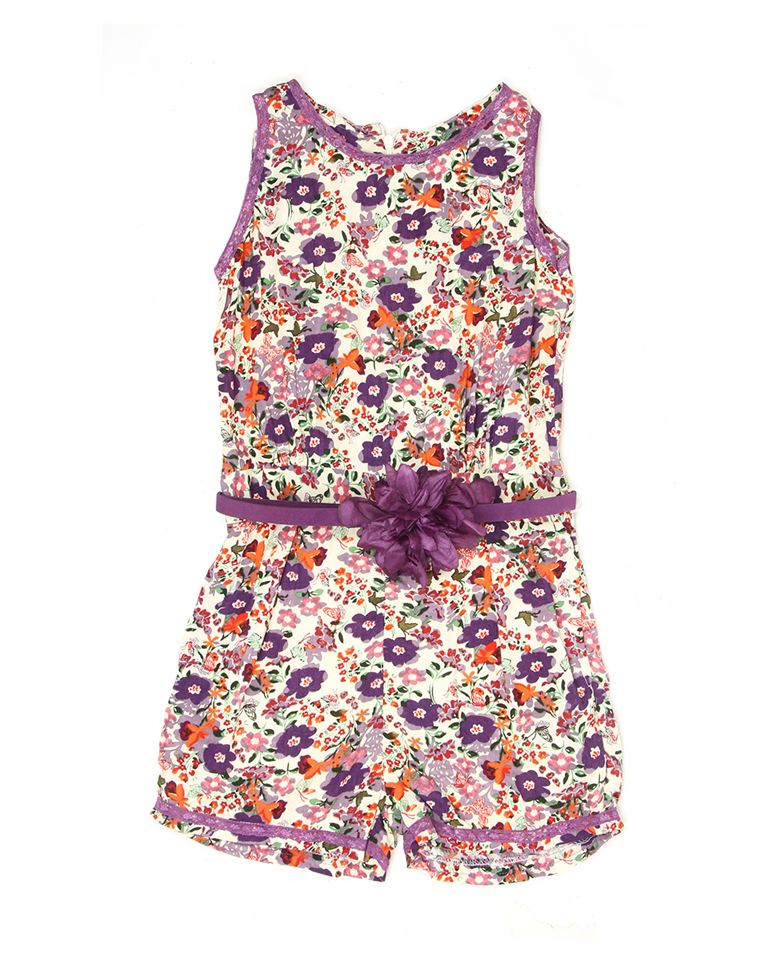 K.C.O 89 Girls Casual Floral Print Sleeveless Jump Suit