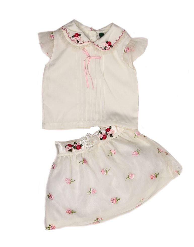 K.C.O 89 Infant Girls Casual Printed Half Sleeve Skirt Set