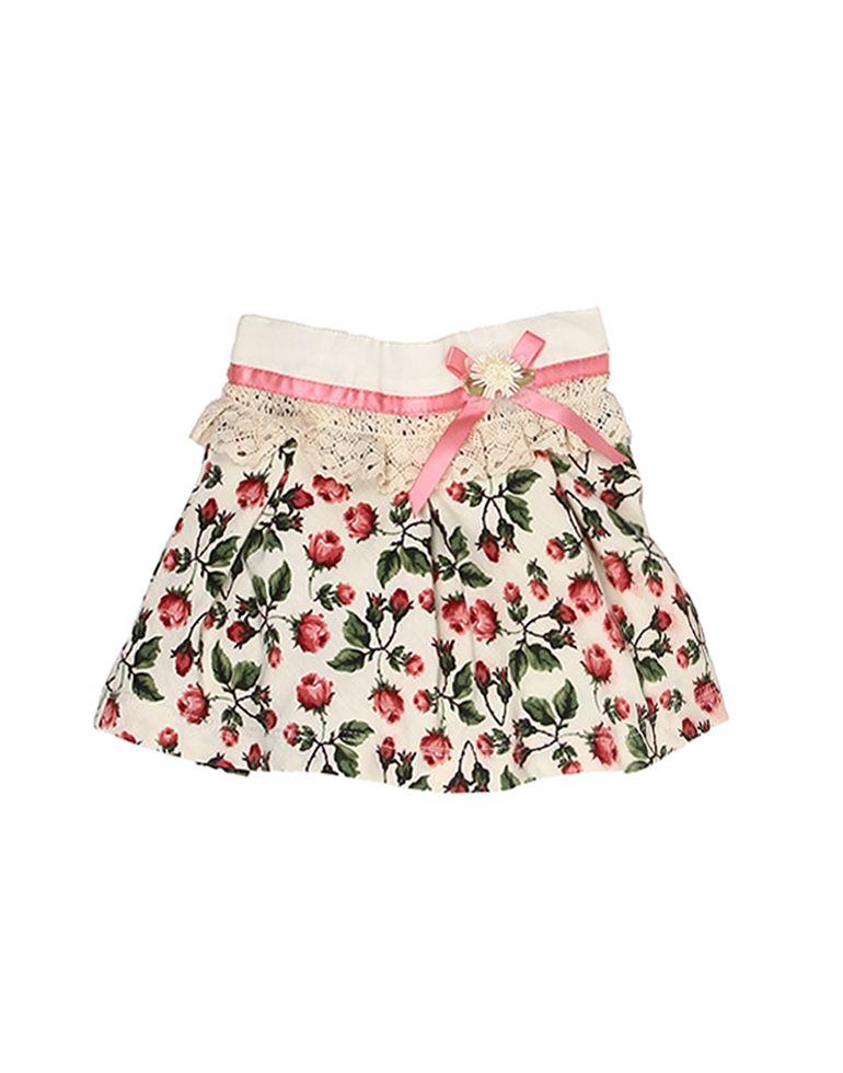 K.C.O 89 Baby Girls Casual Printed  Skirt