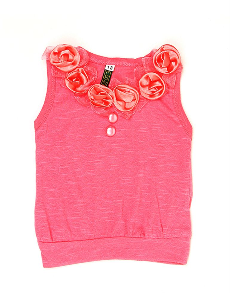 K.C.O 89 Baby Girls Casual Solid Sleeveless Top