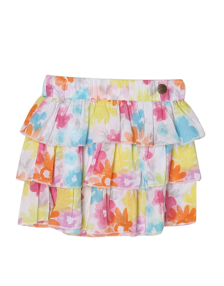 London Fog Girls Multicolor Skirt