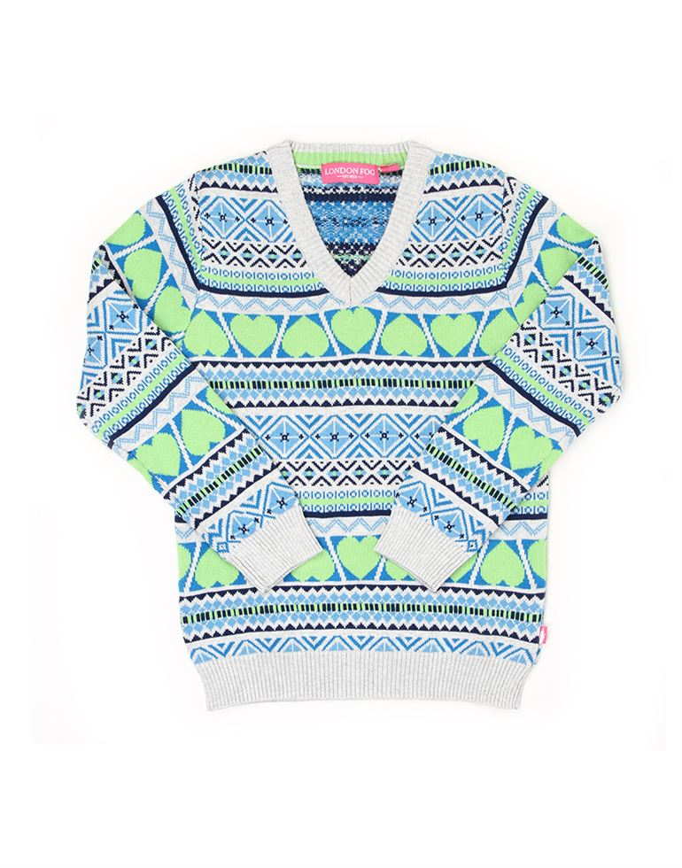London Fog Girls Multicolor Sweater
