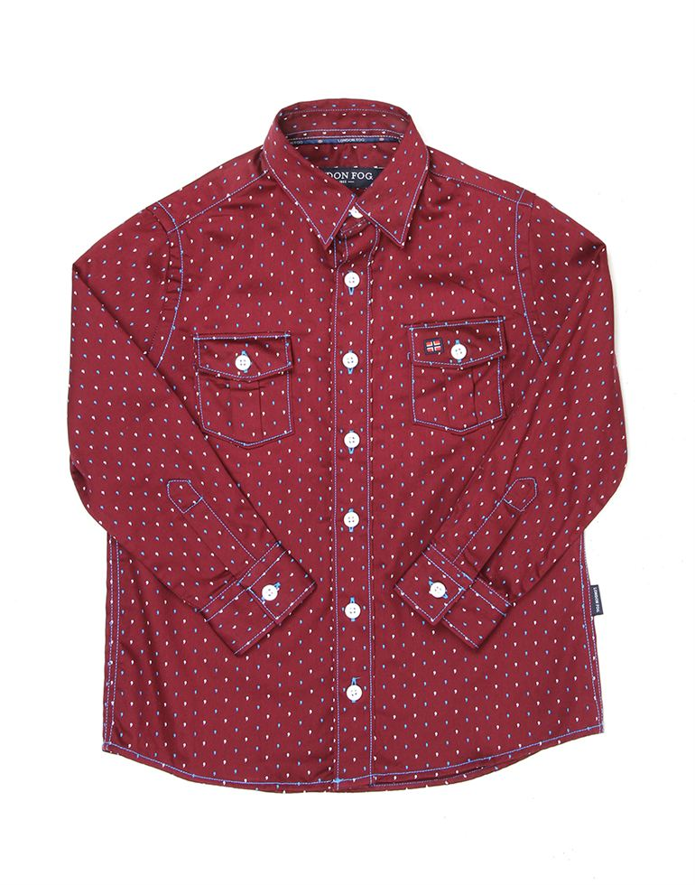 London Fog Boys Maroon Shirt