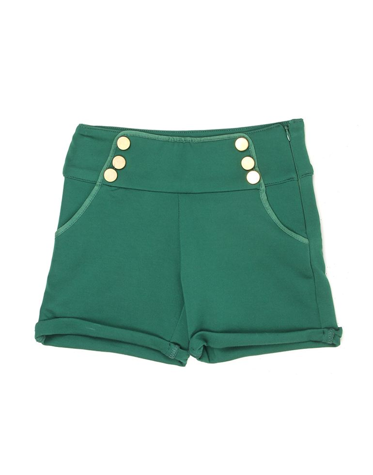 London Fog Girls Green Shorts
