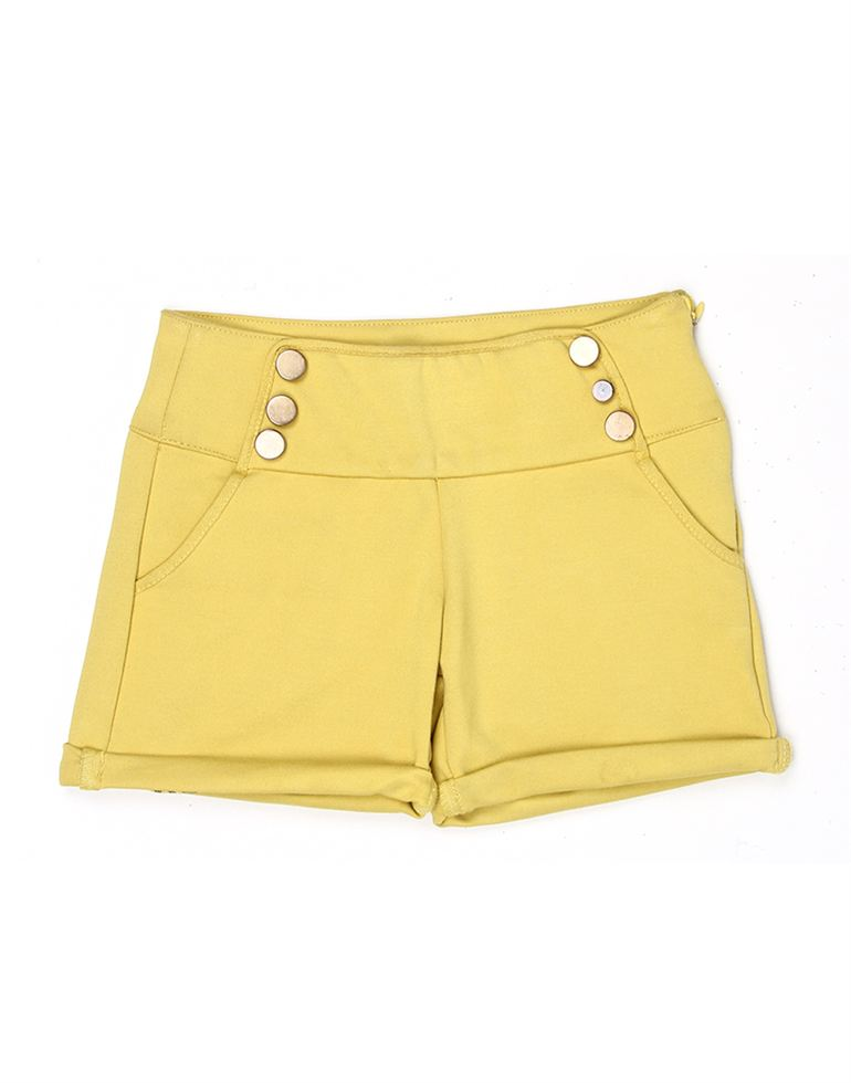 London Fog Girls Yellow Shorts