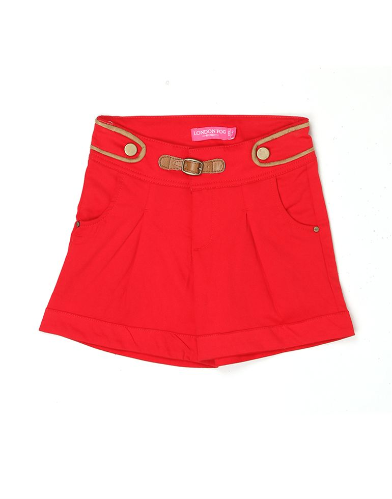 London Fog Girls Red Shorts