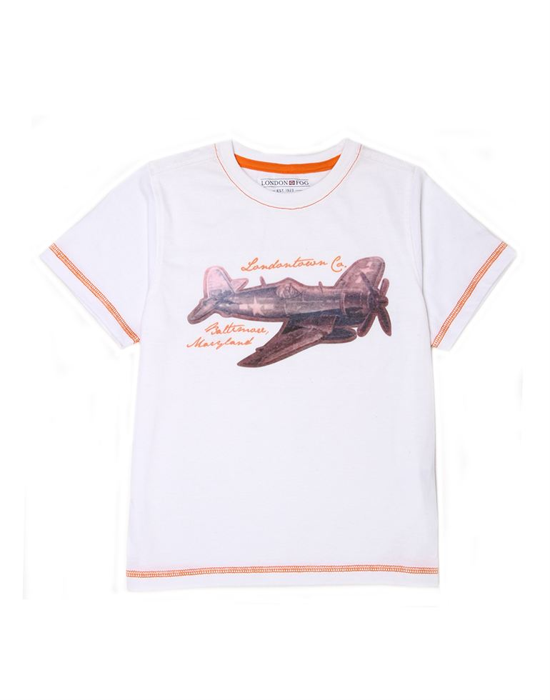 London Fog Boys White T-Shirt