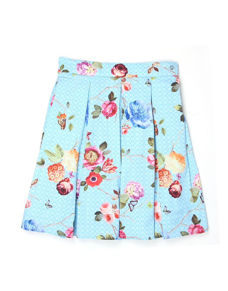 London Fog Girls Blue Skirt