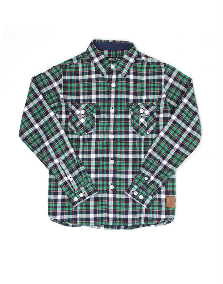 London Fog Boys Green Shirt