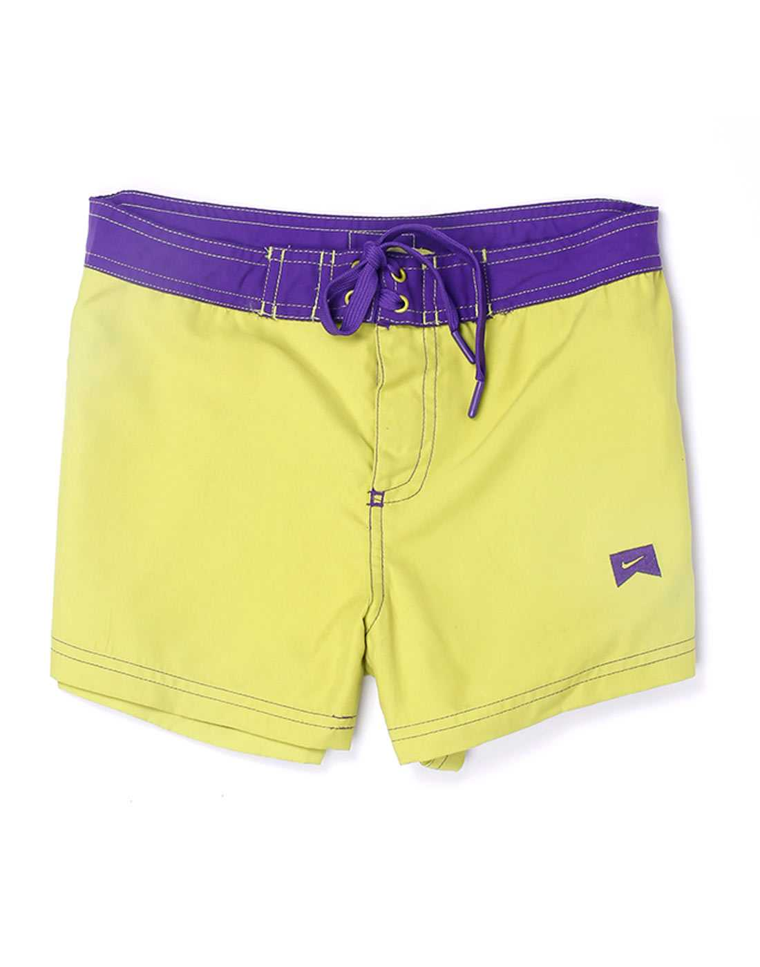 Nike Green Polyester Girls Shorts