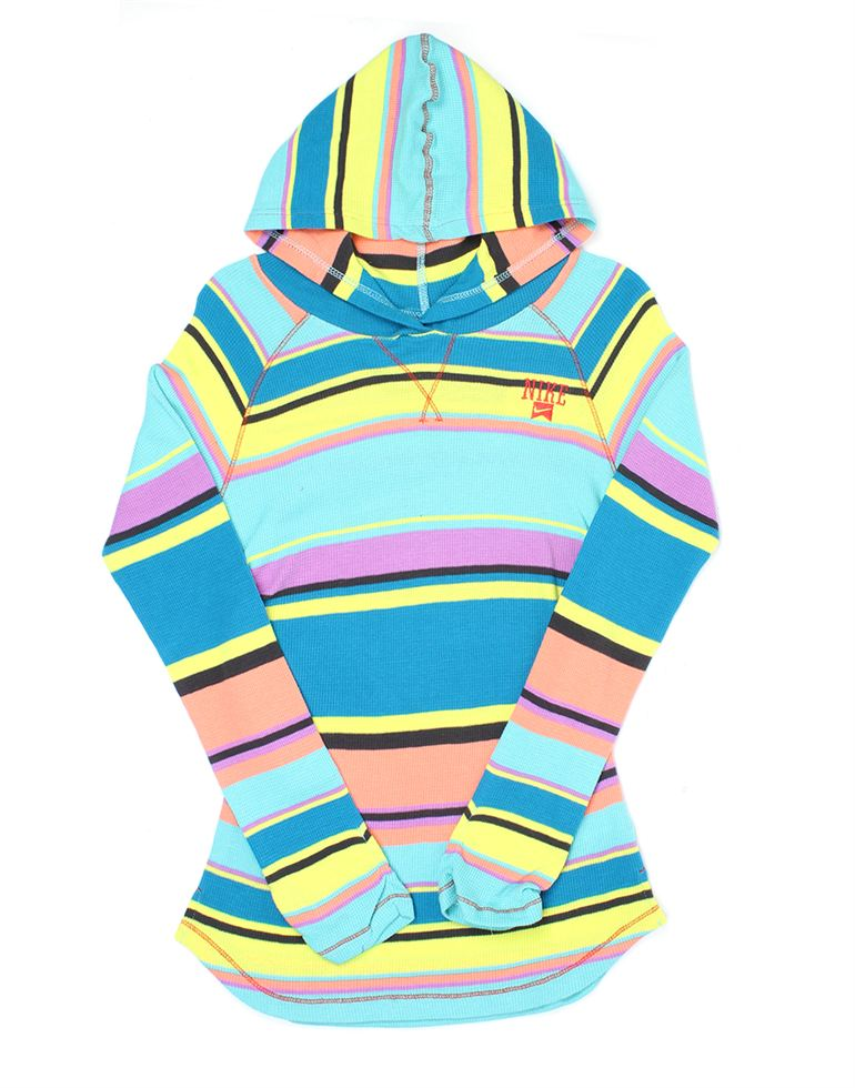 Nike Girls Casual Wear Striped Sweatshirt