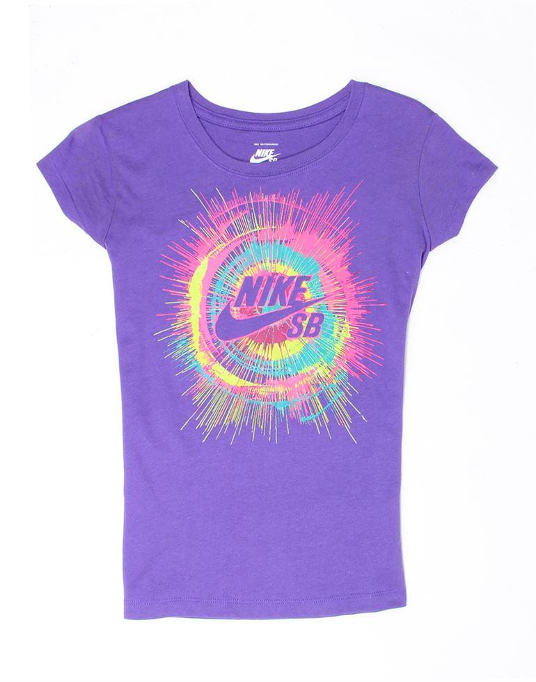 Nike Purple Cotton Girls T-Shirt