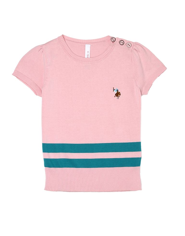 U.S. Polo Assn. Girls Casual Wear Solid Top