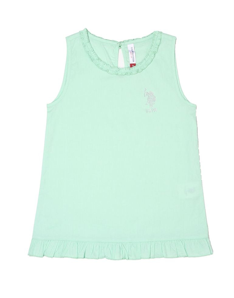 U.S. Polo Assn. Casual Solid Girls Top
