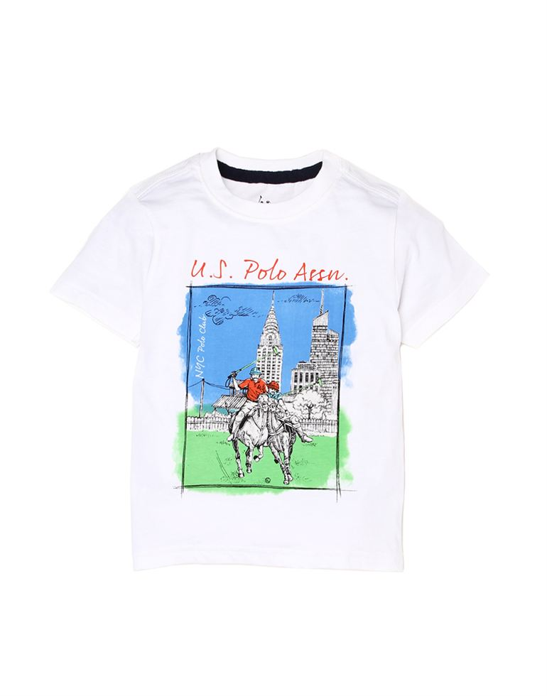 U.S. Polo Assn. Boys Cotton Graphic Print T-Shirt