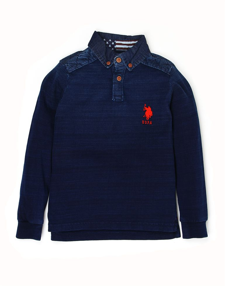 U.S. Polo Assn. Boys Cotton Solid T-Shirt