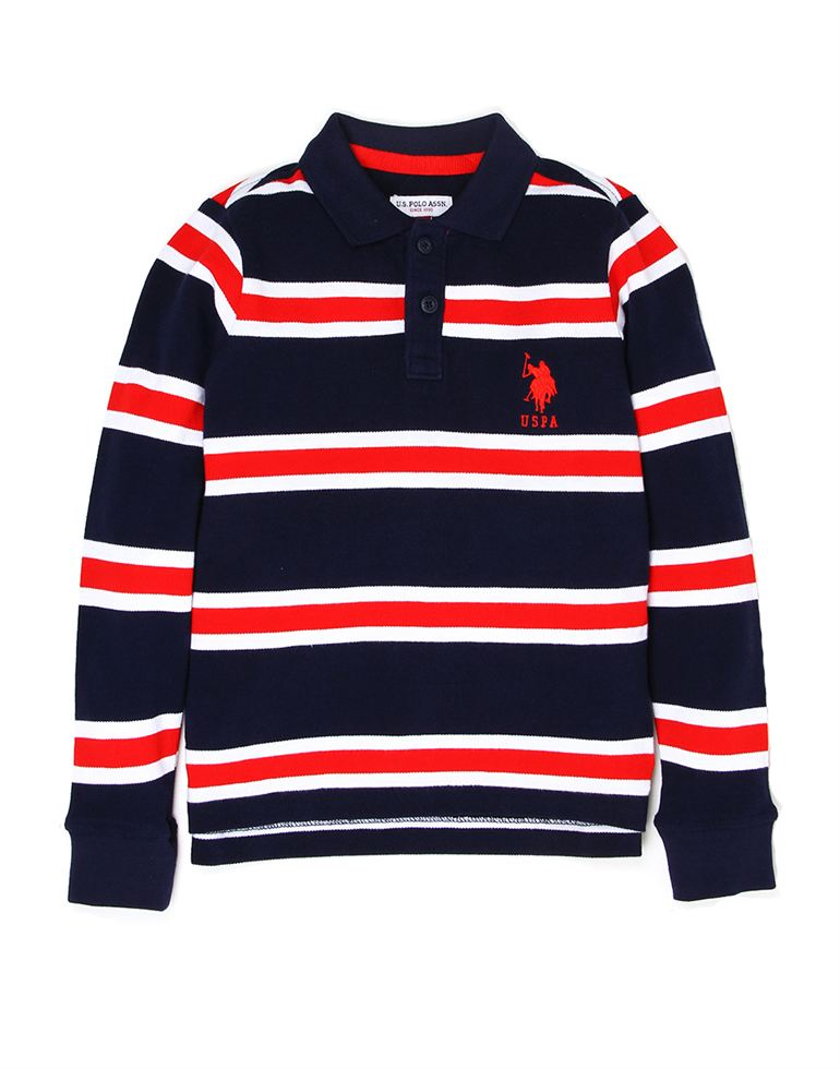 U.S. Polo Assn. Boys Cotton Striped T-Shirt